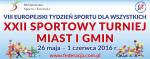 Zbliża się kolejny XXII Sportowy Turniej Miast i Gmin – Małopolska 2016 – VIII Europejski Tydzień Sportu dla Wszystkich