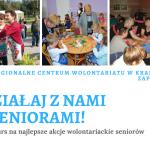 """""""Działaj z nami – Seniorami!""""- zaproszenie do wzięcia udziału w konkursie"""