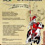 Zaproszenie na Biesiadę Rycerską w Melsztynie, 25 czerwca 2017 r., godz. 17.00