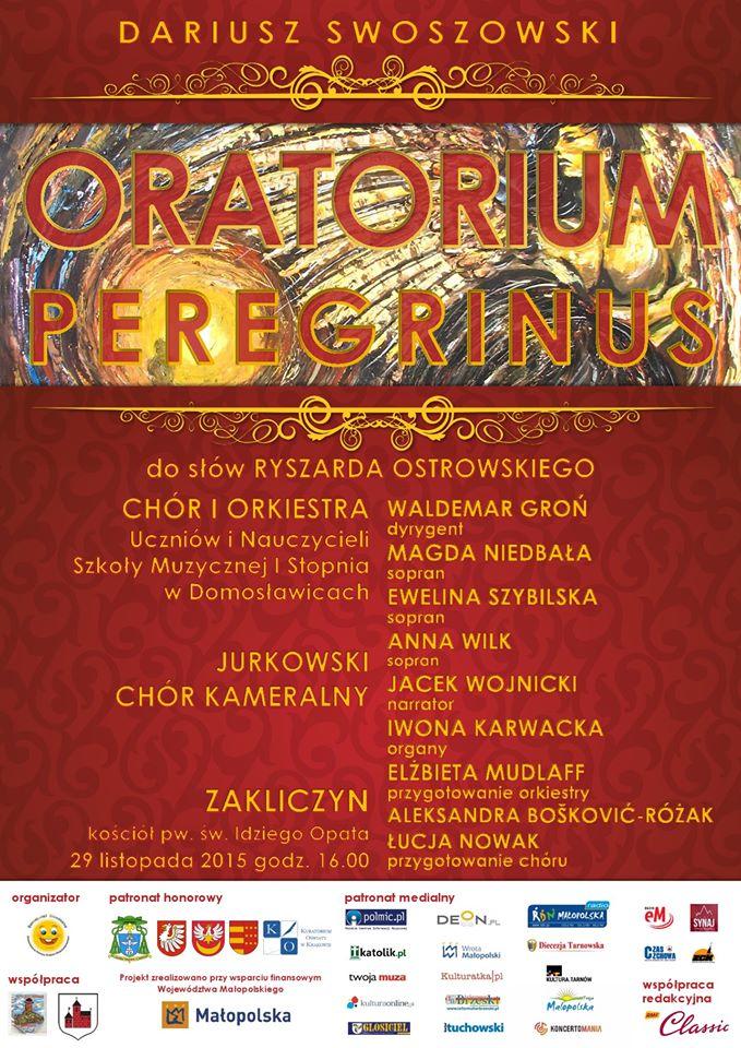 Plakat Oratorium Peregrinus