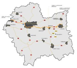 Położenie Zakliczyna na tle województwa małopolskiego