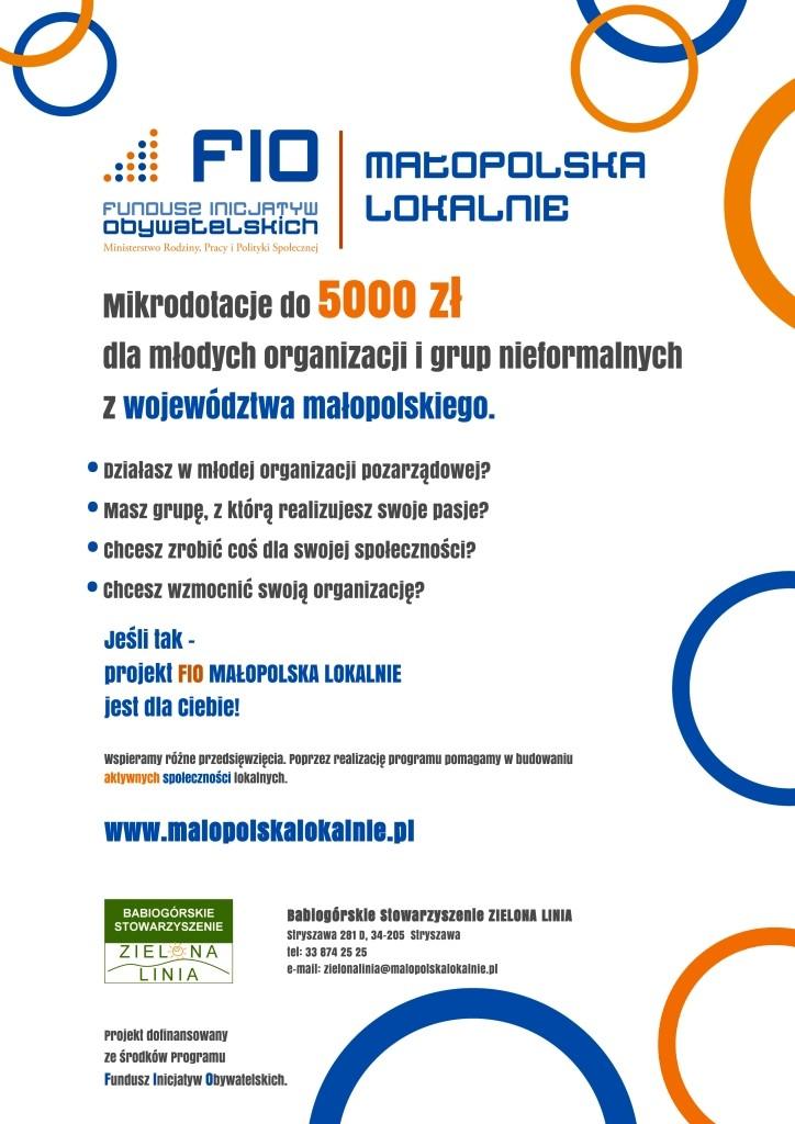 Plakat - Fundusz Inicjatyw Obywatelskich