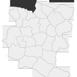 Sołectwo Gwoździec, mapa położenia na terenie Gminy Zakliczyn