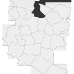 Sołectwo Zawada Lanckorońska, mapa położenia na terenie Gminy Zakliczyn