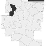 Sołectwo Charzewice, mapa położenia na terenie Gminy Zakliczyn