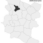 Sołectwo Melsztyn, mapa położenia na terenie Gminy Zakliczyn