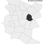 Sołectwo Kończyska, mapa położenia na terenie Gminy Zakliczyn