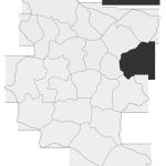 Sołectwo Faściszowa, mapa położenia na terenie Gminy Zakliczyn