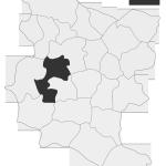 Sołectwo Stróże, mapa położenia na terenie Gminy Zakliczyn
