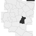 Sołectwo Bieśnik, mapa położenia na terenie Gminy Zakliczyn