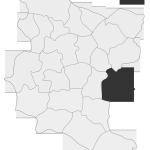 Sołectwo Słona, mapa położenia na terenie Gminy Zakliczyn