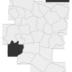 Sołectwo Ruda Kameralna, mapa położenia na terenie Gminy Zakliczyn