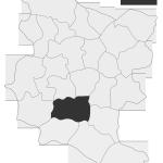 Sołectwo Borowa, mapa położenia na terenie Gminy Zakliczyn