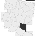 Sołectwo Olszowa, mapa położenia na terenie Gminy Zakliczyn