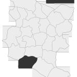 Sołectwo Dzierżaniny, mapa położenia na terenie Gminy Zakliczyn