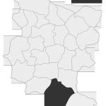 Sołectwo Paleśnica, mapa położenia na terenie Gminy Zakliczyn