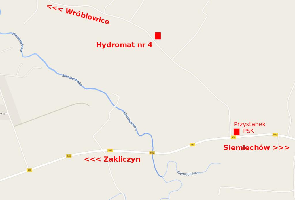 Lokalizacja hydromatu numer 4