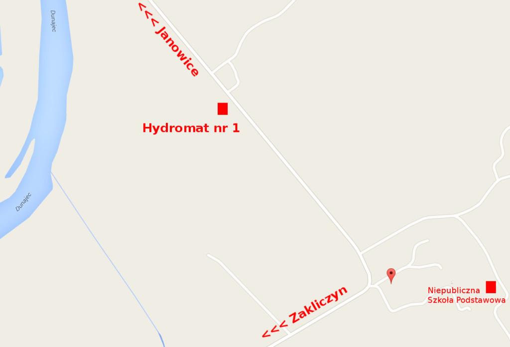 Lokalizacja hydromatu numer 1