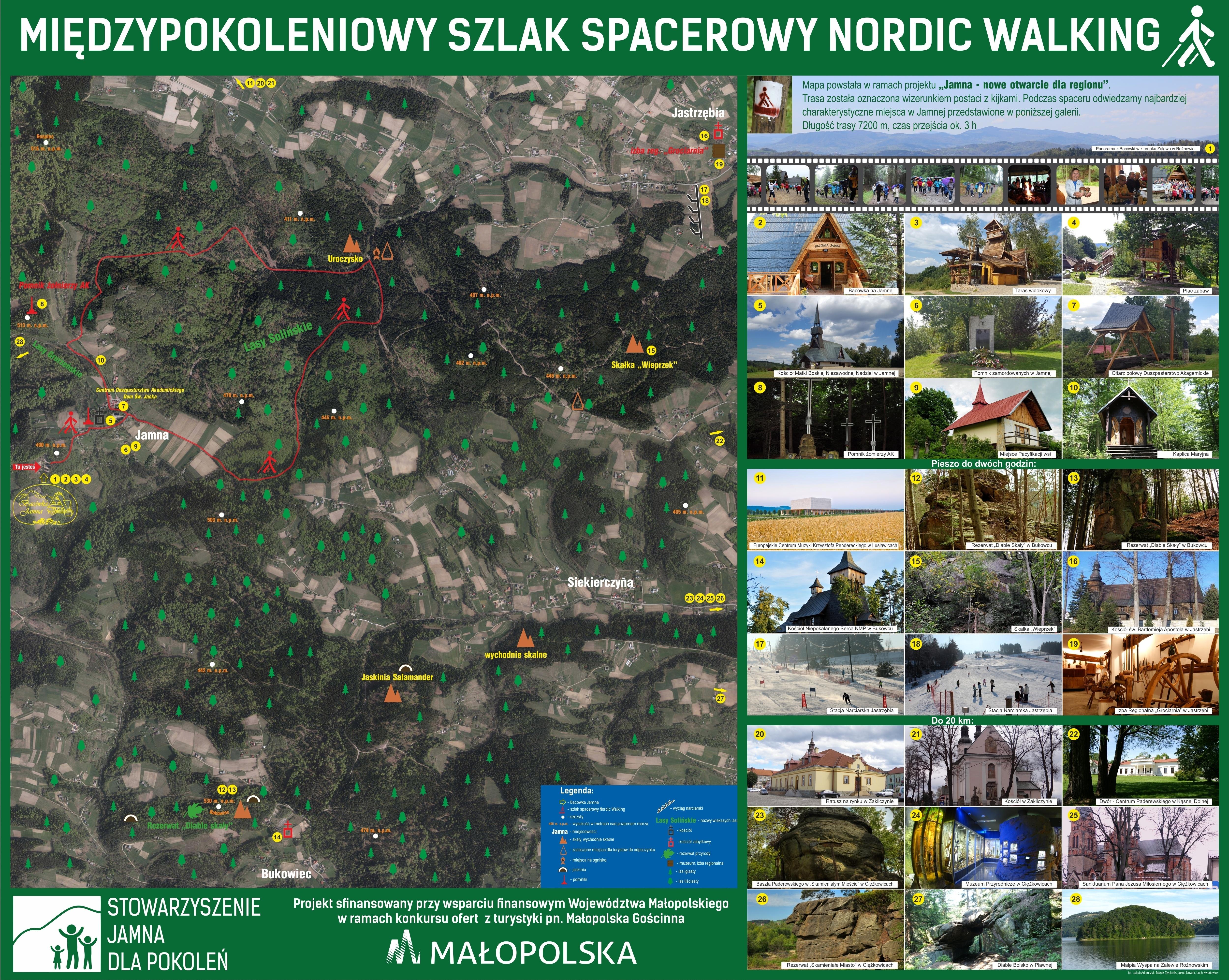 mapa-szlak nordic walking