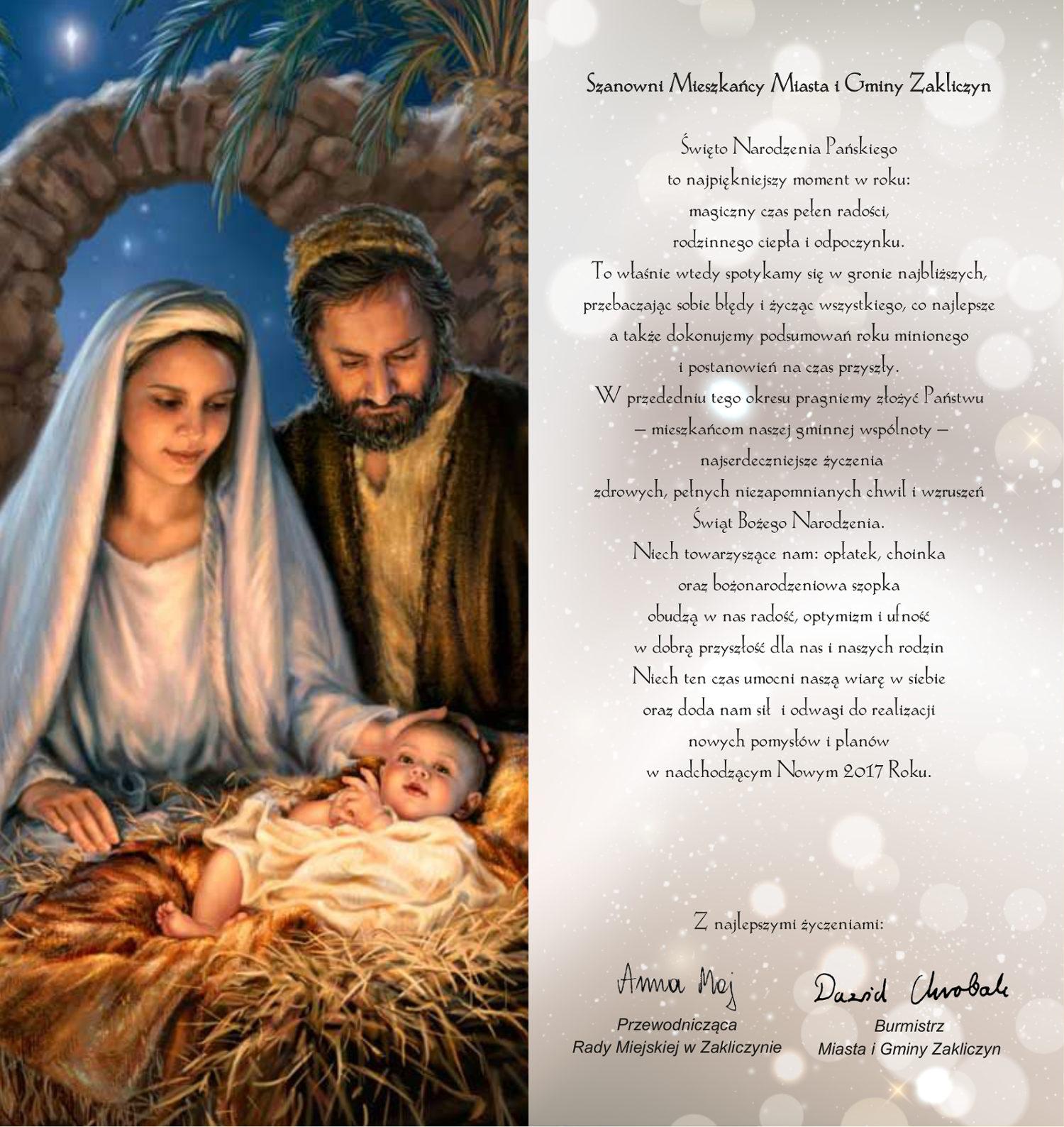 Boże Narodzenie 2016, życzenia świąteczne