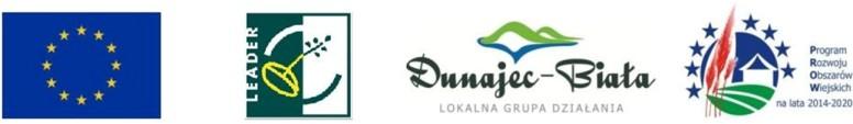 Pas logotypów LEADRE Dunajec-Biała