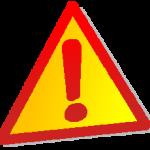 znak uwaga, ostrzeżenie