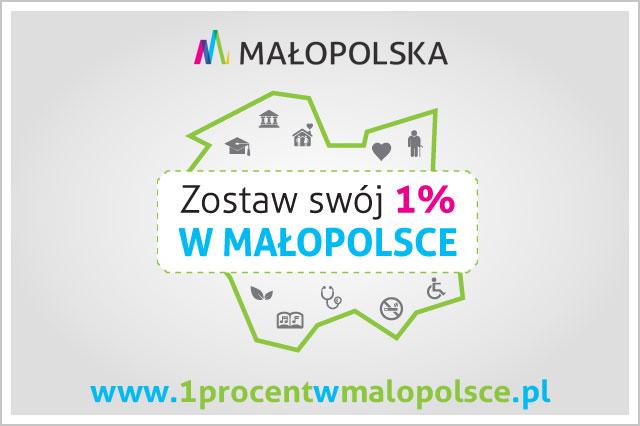 Zostaw swój 1% w Małopolsce, baner kampanii