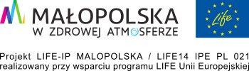 Program LIFE, Małopolska w zdrowej atmosferze, pas logotypów