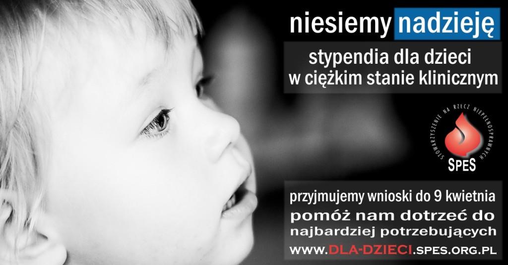 Program Pomocy Dzieciom, stypendia dla dzieci w ciężkim stanie klinicznym, grafika promocyjna