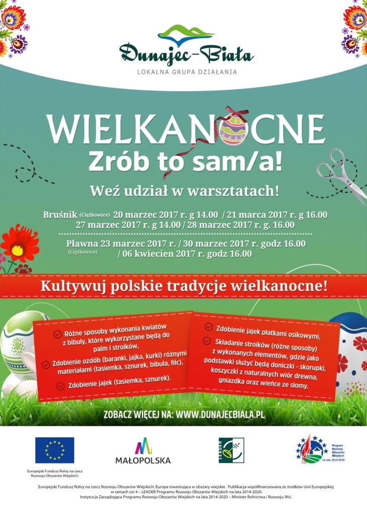Wielkanocne zrób to Sam(a), plakat LGD Dunajec-Biała
