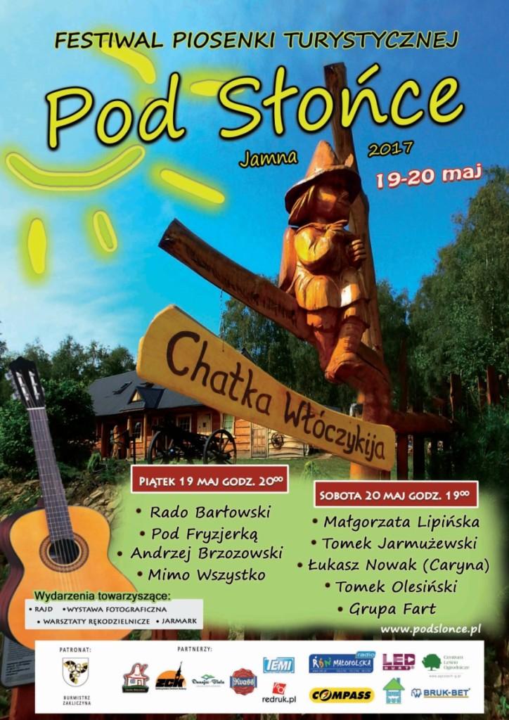 Festiwal Piosenki Turystycznej Pod Słońce, plakat imprezy