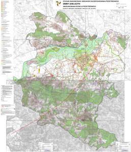 II zmiana Studium uwarunkowań i kierunków zagospodarowania przestrzennego Gminy Zakliczyn - załącznik graficzny uwarunkowania rozwoju przestrzennego