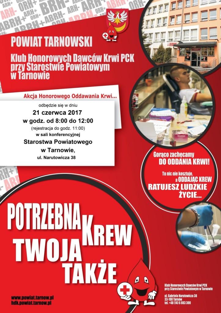 XXII akcja honorowego krwiodawstwa, plakat akcji
