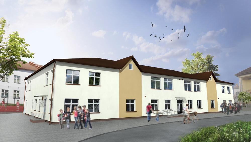 Wizualizacja budynku przedszkola i żłobka w Zakliczynie