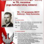 """Uroczystości upamiętniające kpt. Jana Dubaniowskiego """"Salwę"""", 16-17 września 2017 roku"""