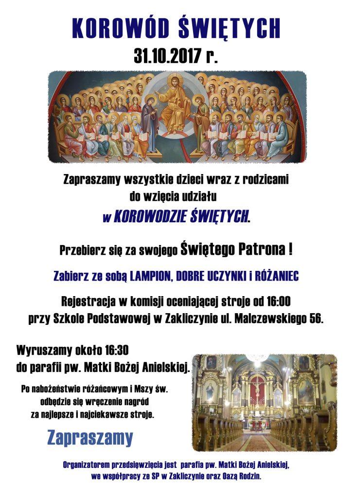 Korowód Świętych, plakat
