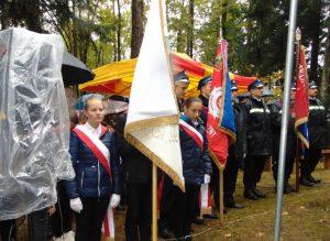 Uroczystość patriotyczno-religijna w lasach Woli Stróskiej
