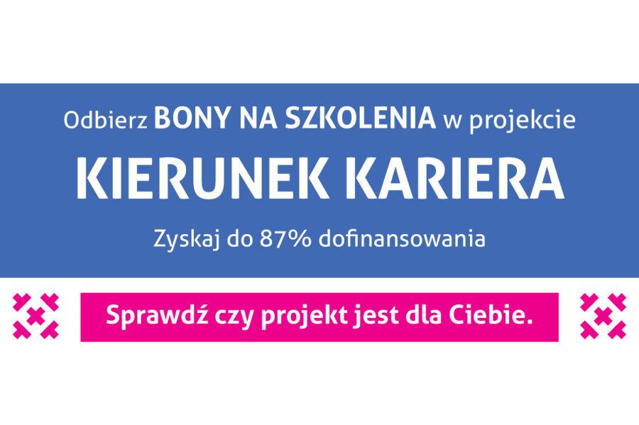 BSzkolenia za bony w Małopolsce, baner programu