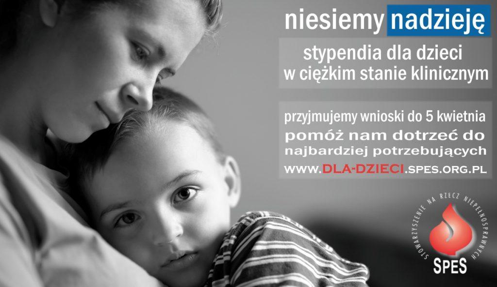 Stowarzyszenie na Rzecz Niepełnosprawnych SPES, grafika promocyjna programu stypendialnego 2018 r.