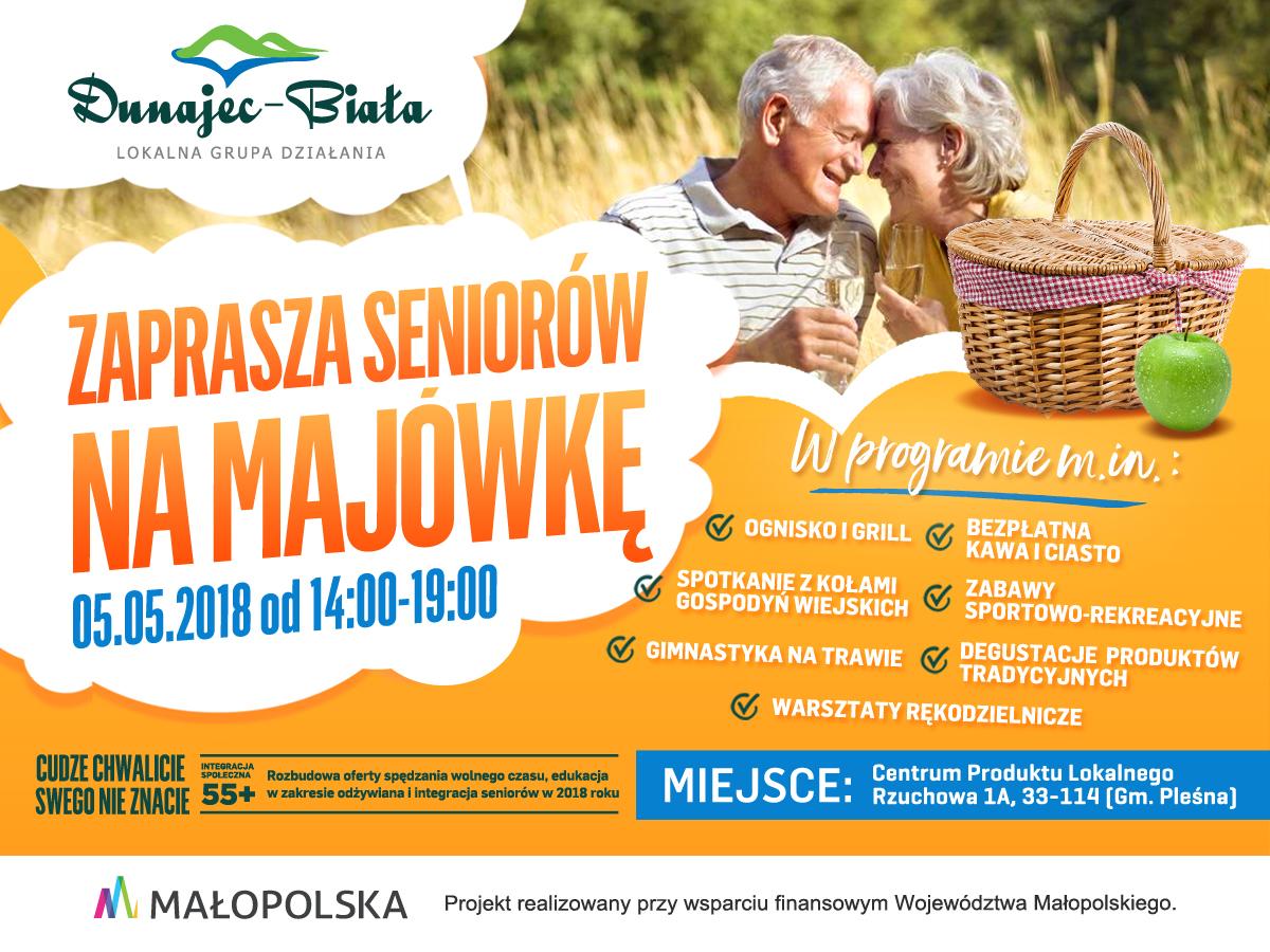 Majówka dla seniorów - 05.05.2018, plakat promocyjny