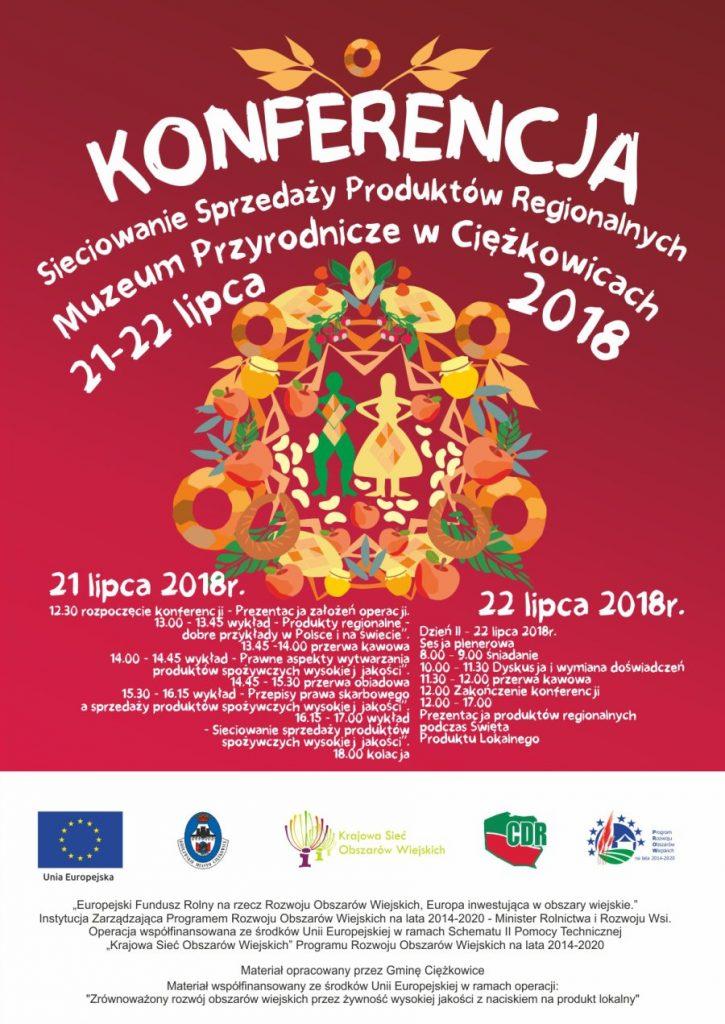 Sieciowanie Sprzedaży Produktów Regionalnych, plakat promocyjny imprezy