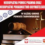 Nieodpłatna pomoc prawna w Gminie Zakliczyn w 2019 roku