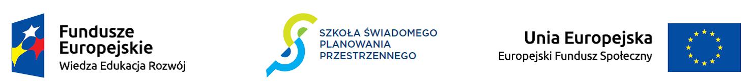 pas logotypów, fundusze europejskie, szkoła świadomego planowania przestrzennego, unia europejska