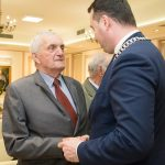Diamentowe i Złote Gody, uroczystość jubileuszowa, 9 kwietnia 2019 r., sala im. Spytka Jordana w Zakliczynie, uczestnicy
