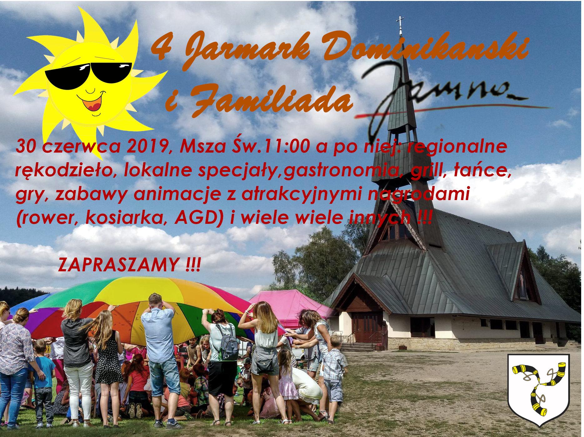 4 Jarmark Dominikański, niedziela 30 czerwca 2019 r., plakat