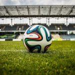 piłka na trawie, na stadionie