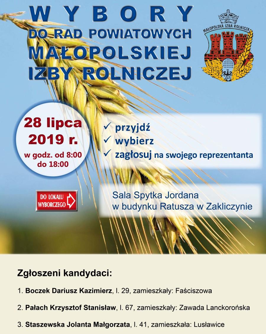 Plakat wyborczy - MIR 2019, Zakliczyn