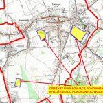 Załącznik graficzny - granice obszarów objętych ponownym wyłożeniem projektu miejscowego planu zagospodarowania przestrzennego miasta Zakliczyn, w gminie Zakliczyn