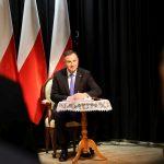 Uroczystej sesji Rady Miejskiej w Zakliczynie, podczas której Prezydent Polski Andrzej Duda odebrał tytuł Honorowego Obywatela Gminy Zakliczyn