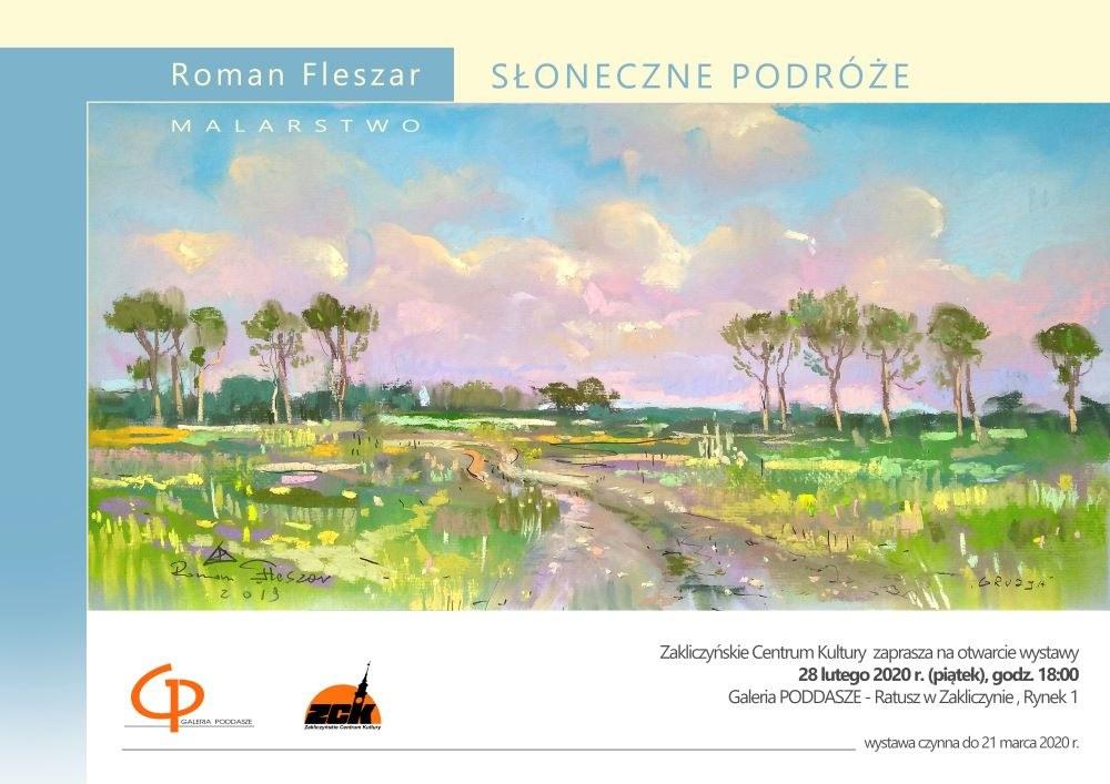 Roman Fleszar plakat wystawy malarstwa
